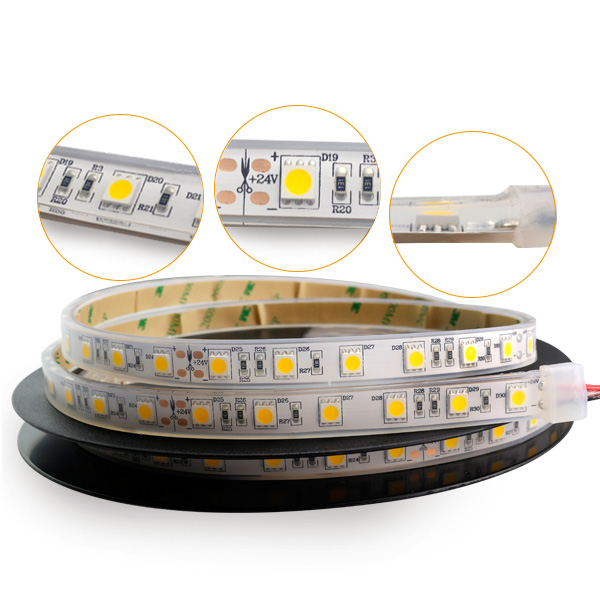 Underwater 2 years warranty led strip light IP68 SMD 5050 epistar led tape strip for swimming pool and aquarium use