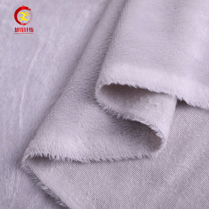 OEM design fabric velvet velour 100% polyester shiny grey velvet fabric