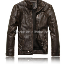 Fur men's jacket PU wash men's jacket high quality men's motorcycle leather