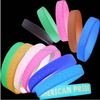 Sports Wrist Band Maker Custom Printed Brand Name Logo Soft Rubber Silicone Bracelets for Men
