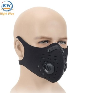 Breathable Training PM 2.5 Dustproof Bicycle Mask Activated Carbon Filter FaceCycling Face Mask Sport Bike Mask