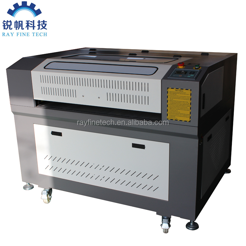 Co2 100 Watt 6090 model laser cutting and engraving machine with cw5000 water chiller red dot pointer water sensor