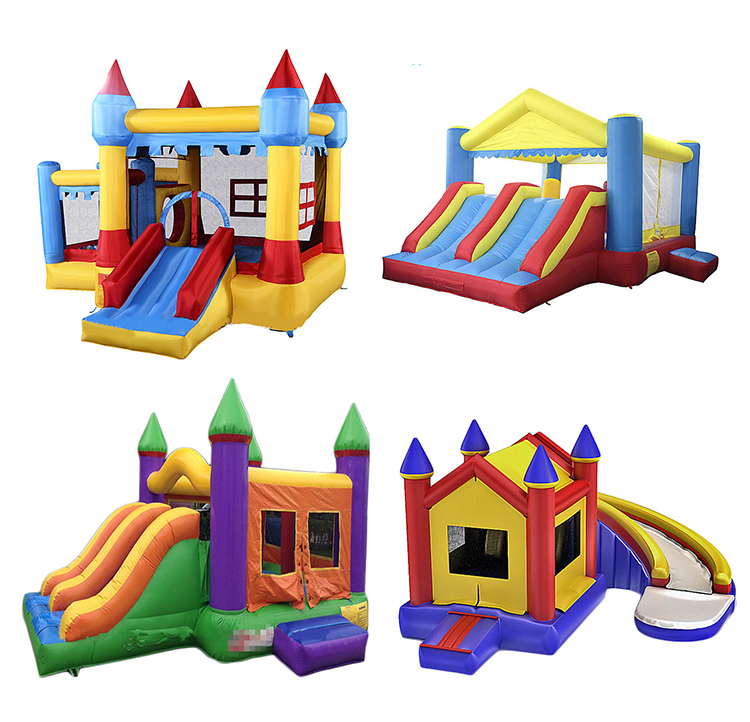 Manufacture inflatable bouncy castle with slide jumping house toys