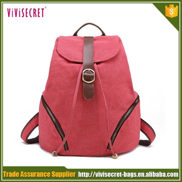 Trade Assurance Wholesale Vintage Canvas Bookbags Eco-friendly ...