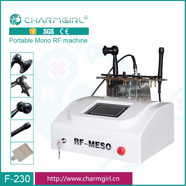 Beauty salon use facial rf monopolar rf machine for skin rejuvenation