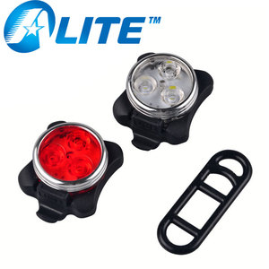 Best seller USB rechargeable free rear bicycle light LED bike light set