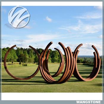 Garden Art Decoration Large Corten Steel Ring Sculpture Buy