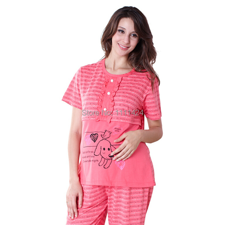 260290ad049 Get Quotations · newstyle lady pajamas set women clothes pregnant clothes  maternity pajamas nursing lounge suckling clothes short sleeve