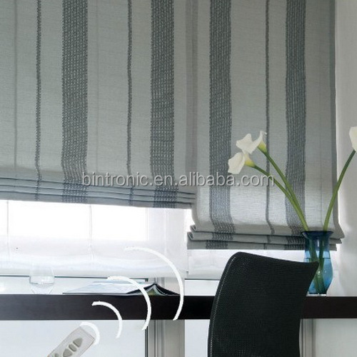 Bintronic Home Decor Collection Electric Curtain Track System Motorized Roman Blinds Automated Curtain