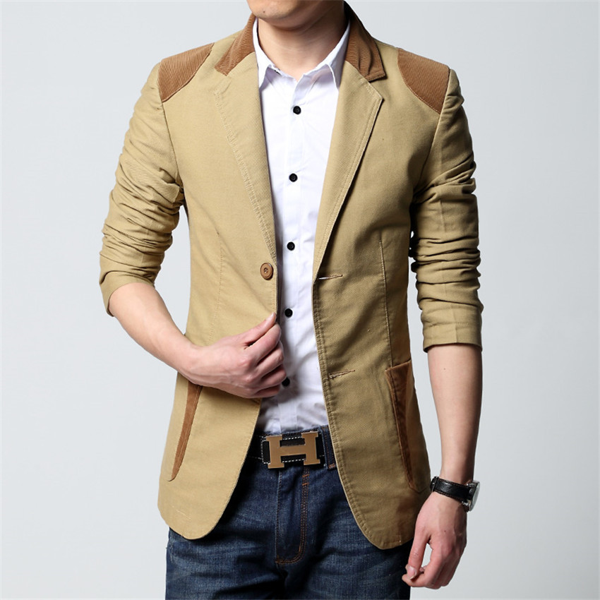 A suit jacket is made with a matching pair of dress pants (of the same fabric), so you can style an entire suit. Suit jackets tend to be more formal than a blazer, as it doesn't have as many details. A men's blazer is a mix of a sports jacket and suit jacket and does not include matching dress pants.
