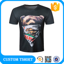 High Quality Plain 2016 Compressed Creat Your Own Logo Dry Fit Short Sleeve Round Neck Black Men T Shirt Made In China