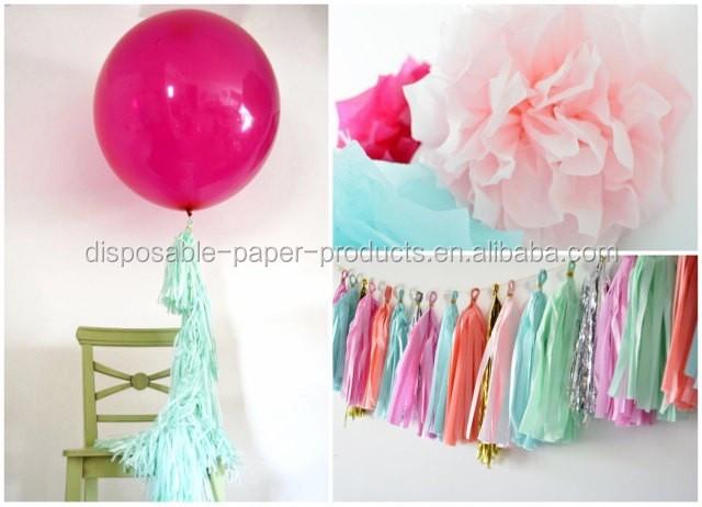 White Wedding Balloons DIY KIT tassel tail Balloon 36 inc 3ft