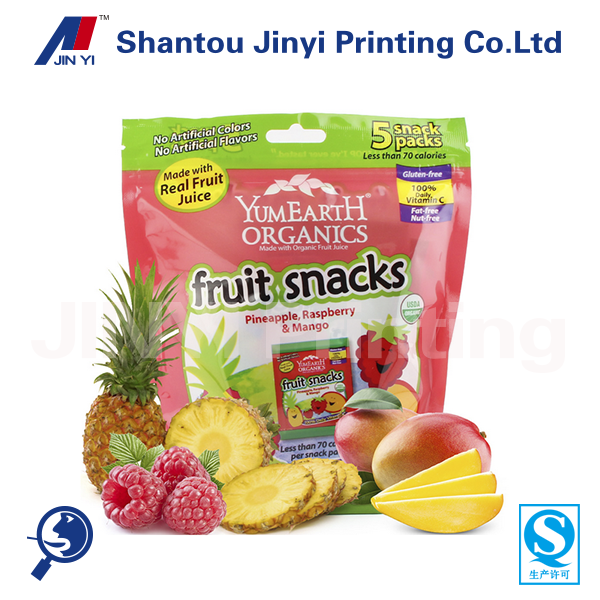 Health food names of all dry fruits snacks ziplock bag stand up pouch