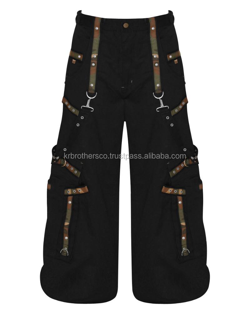Men Black   Camouflage Gothic Military Pants - Buy Men Black ... 5776886f01d