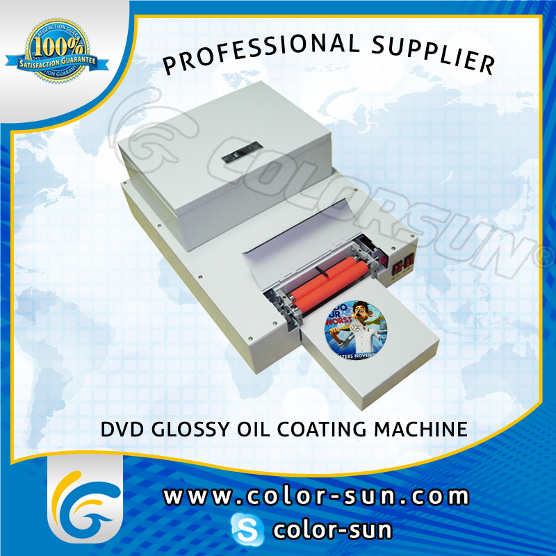 Automatic printing and coating CD DVD disc printer machine with glossy oil