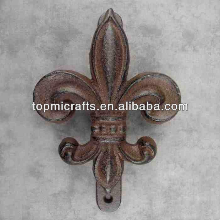 Fleur De Lis Large Cast Iron Door
