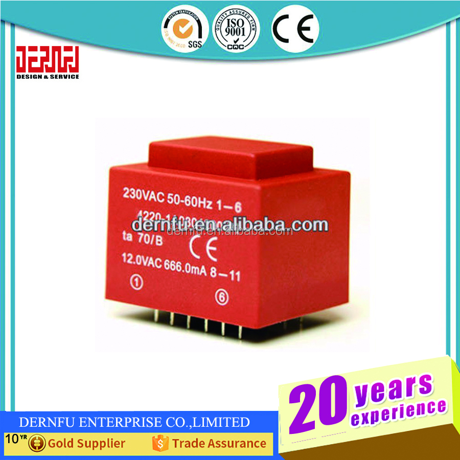50 Watt Ei Ferritkern Eingang 220 V 50hz Vertikale Montage Electric Power Transformator Ausgang 24vac 1 Haushaltsgeräte