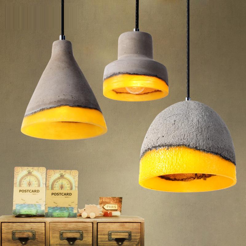 Buy Industriel Lampe De Plafond Béton Lumière Ciment Suspendu Lustre suspension En Vintage Lustre Moderne lampe Pendante Béton xBdCeor