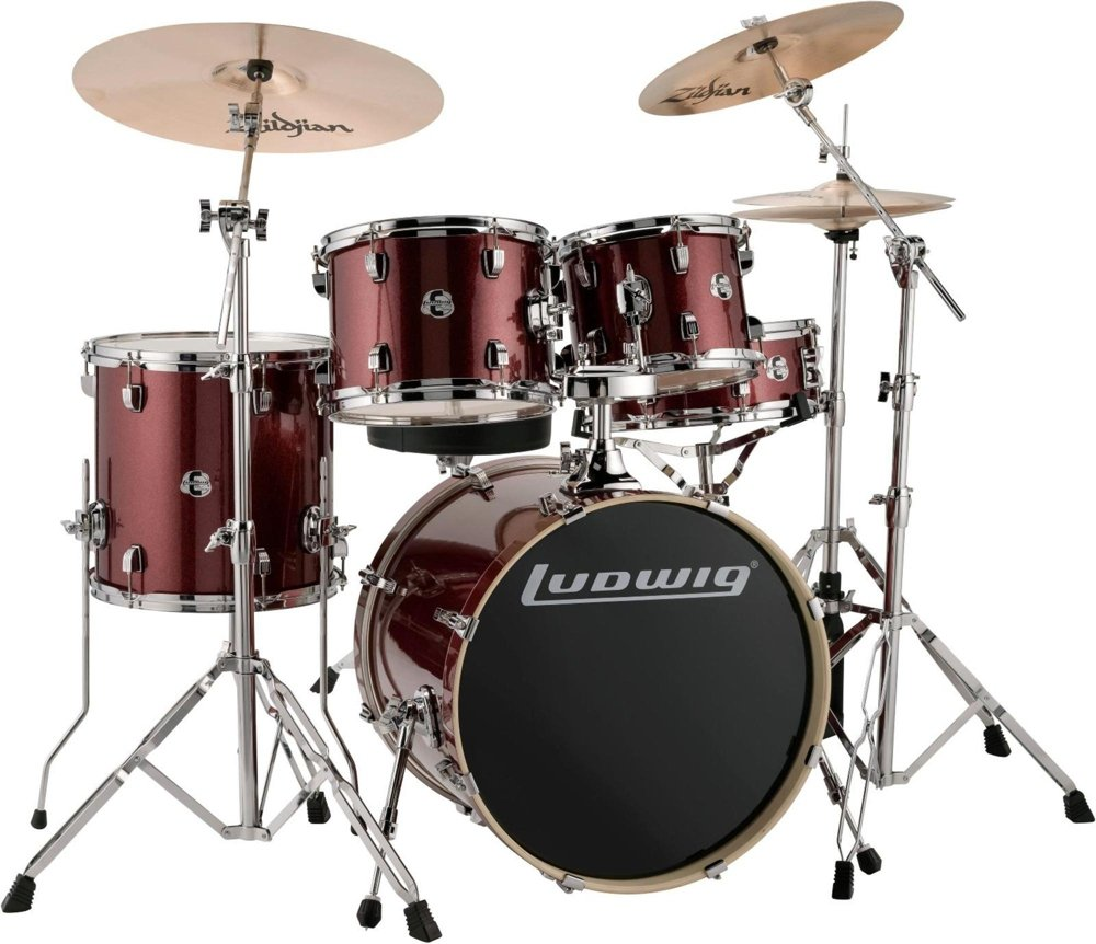 Ludwig Drum Set, Red Sparkle (LCEE20025)