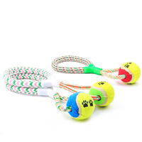 Cheap Bulk Cotton Rope Dog Toys with Tennis Ball