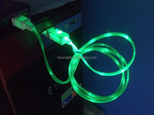 factory supply 2017 new 1 meter glowing micro usb data cable