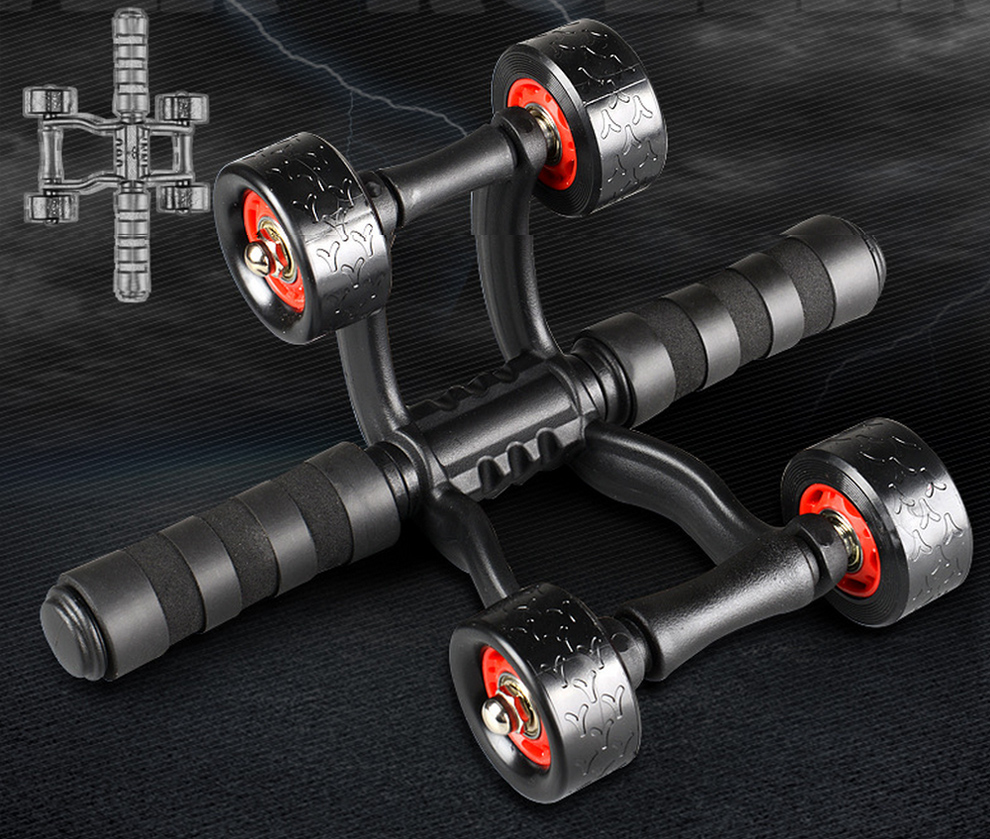 4 Wheels Abdominal Roller with Non Skid Wheels for Better Balance in Workout to Reduce Belly Fat 8