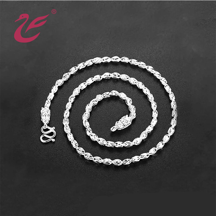 Low price wholesale custom 925 silver W clasp for necklace