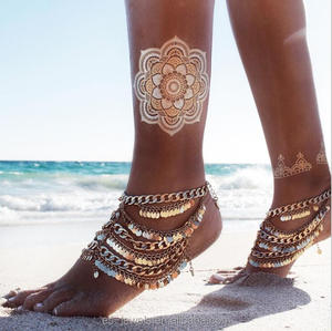 Hot ! Bikini 2018 Chain Anklet Gold Jewelry Sets Women Anklet