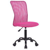 Cheap Mesh Pink Office Chair without Armrest Wholesale Simple Office Chair