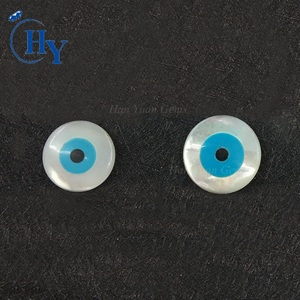 Wholesale 8mm 10mm round mother of pearl evil eye