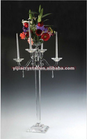glass pillar candle holder for wedding decoration
