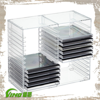 Clear acrylic Display Stand, DVD Storage Cabinet, CD Rack
