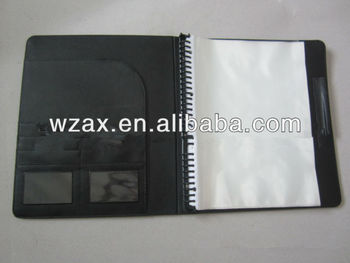 Pp Spiral File Folder With Sheet Protectors - Buy A4 File ...