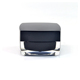30g square black acrylic cosmetic cream jar with screw lid