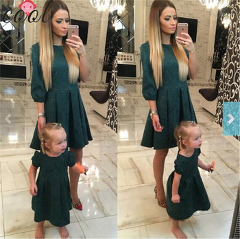 Hot sale women clothes dresses cotton mother and daughter outfits family matching clothing dress