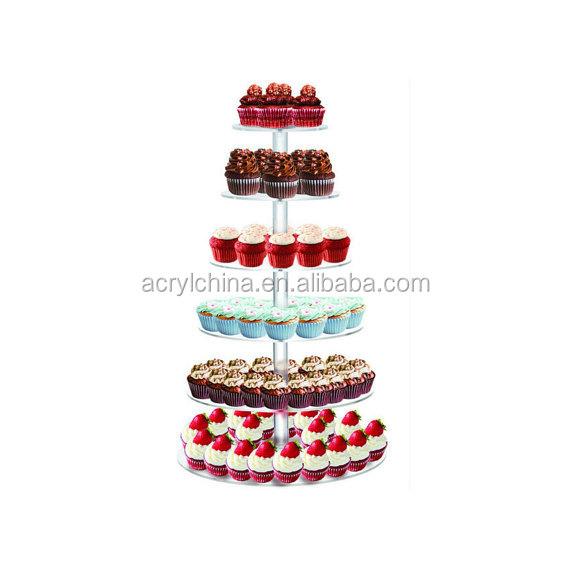 6 Etagen Rund Tortenständer Macaron Kuchen für Party Hochzeit Geburtstag Display