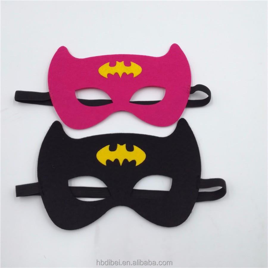 Kids Cute Felt Super Hero Mask Nonwoven Costume Fancy Dress Play Party Mask