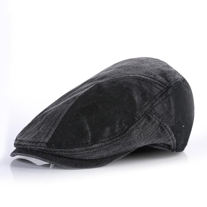 5d09509884290 Get Quotations · New 2015 boina masculina hat beret retro vintage finishing male  beret cap spring Berets golf flat
