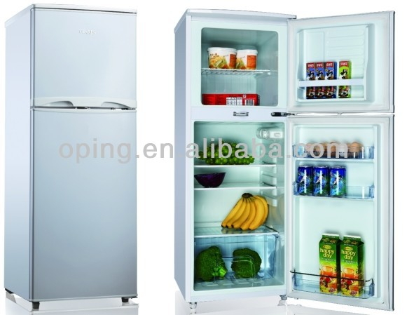 double door home use up freezer bottom fridge refrigerator with Light Lock Key BCD-132