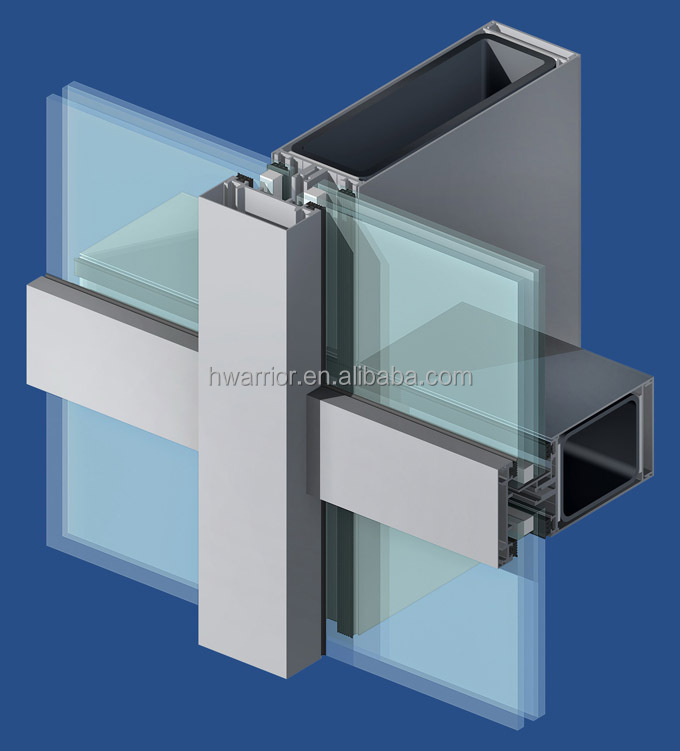 Stick Glass Curtain Wall Economic Cheap Facade Including
