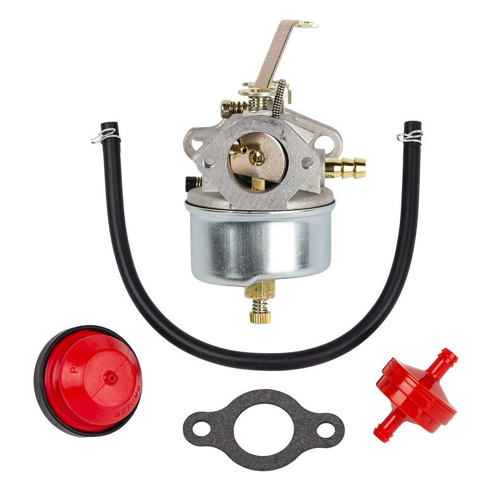 Get Quotations · HIFROM Carburetor Carb w/gasket Primer Bulb Fuel Line for  Tecumseh 631067 631067A 632076 H50
