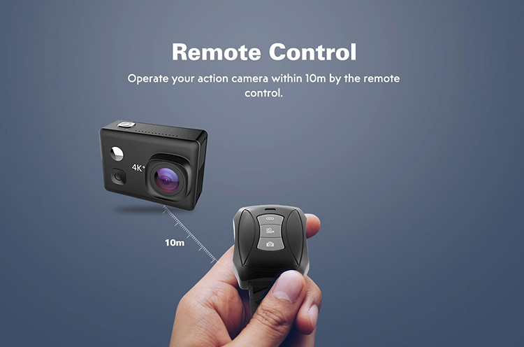 Relee External Mic Touch Screen WIFI Ultra HD Video Action Camera 4K