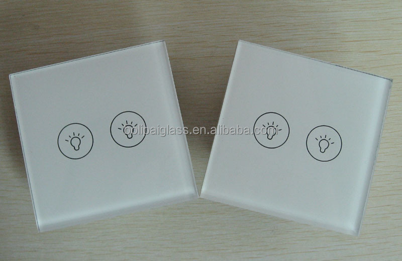 Silkscreen Color Modular Switch Panel Tempered Glass Switch Plates