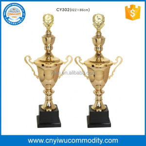 zinc sports gold trophies cups,metal award plate for souvenir,achivement trophy cups