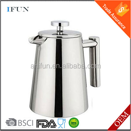 All Stainless Steel French Press For Coffee or Tea | Double Wall Insulated Coffee Pot & Maker Keeps Brewed Coffee or Tea Warm