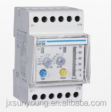 Electronic grounding fault protection relay