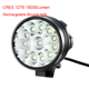 Waterproof 12 x XM-L T6 12T6 Bright 18000 Lumen 12T6 LED Front Bicycle Bike Light set Rechargeable Customize 18650 Battery Pack