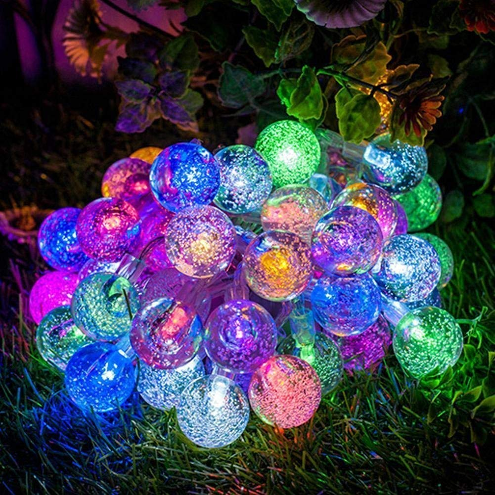 Ball String Lights, KINGCOO Waterproof Ball Battery Lights 5M 50LED Indoor Ball Lights for Christmas Decorative Lights (Multi)