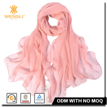Hangzhou Wensli Fashion Scarf By Mirabeau Uniform 8mm Georgette Silk Scarves