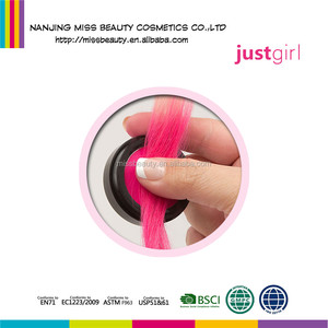Washes off easily Non-Toxic Bright Colors Washable Round Hair Color Chalk
